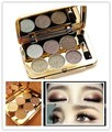 Natural Professional Glitter Eyeshadow Palette Makeup with Brush 6 Colors Smoky Naked Eye Shadow Cosmetic paleta de sombra
