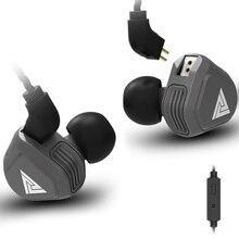 QKZ VK2 Nova Unidade de Fones de Ouvido de Alta Fidelidade Em fones de Ouvido Fone de Ouvido Microfone De Fone de ouvido fone de Ouvido Earplug Com Destacável Monito Correndo Esporte Fone De Ouvido