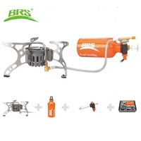 BRS 8 Portable Oil Gas Multi Fuel Stove Outdoor Picnic Backpacking Hiking Camping Gas Stove Gasoline Oven