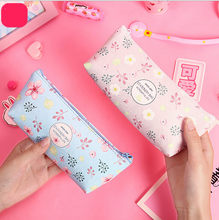 Cactus Pencil Case Canvas School Supplies Kawaii Stationery Estuches Chancery School Cute Pencil Box Pen Bags Penalty 30(China)