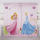 Custom Made 2x Grommet Window Drapery Curtain Girl Nursery Kid Children Room Window Dressing 200 x 260cm Princess Blue Purple