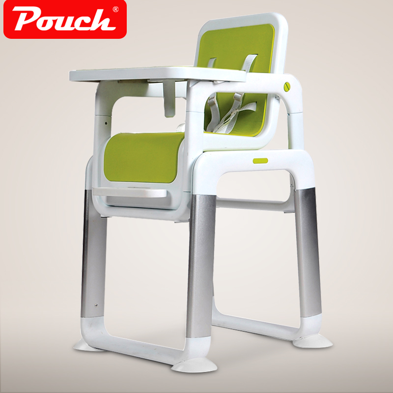 Pouch split child dining chair metal baby feed chair portable baby dining table PP seat separate baby feed chair