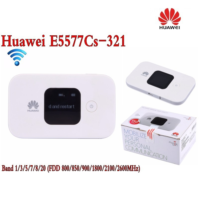 Huawei E5577Cs-321 150 Mbps 4G LTE et 43.2 Mbps 3G Mobile WiFi Hotspot (plus 2 pcs antenne)