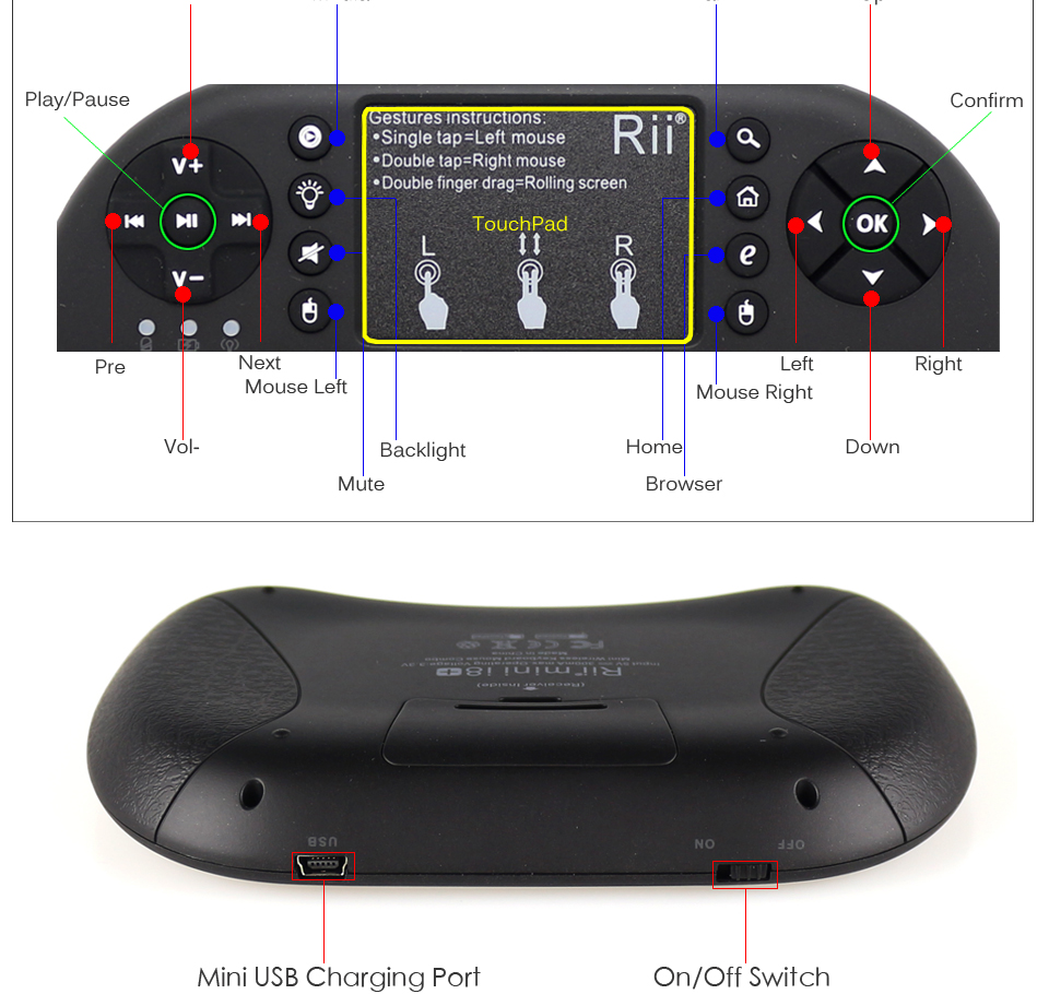 teclado sem fio 2.4 ghz rato de