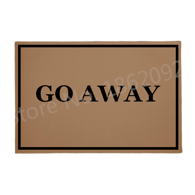 Us 16 9 11 Off Hot Funny Go Away Home Welcome Mats For Front Door Geek Quiry Joke Entry Hallway Room Mat Rude Carpet Rug Rubber 18 30inch Gifts In