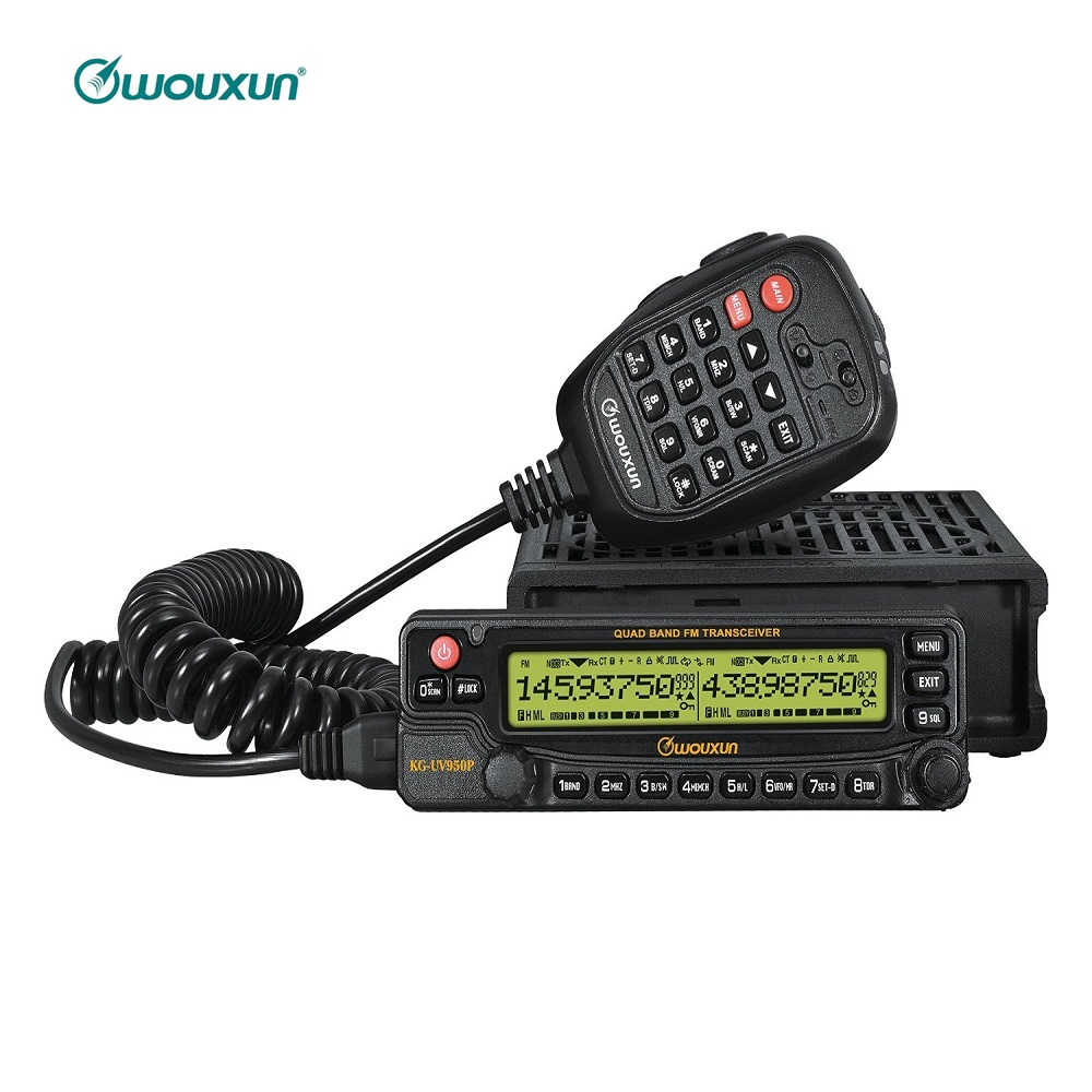 WOUXUN KG 950P Car Mobile Radio Quad Bands Transmission SW Eight Bands Reception 50W Transeciver Cross Band Repeater Interphone