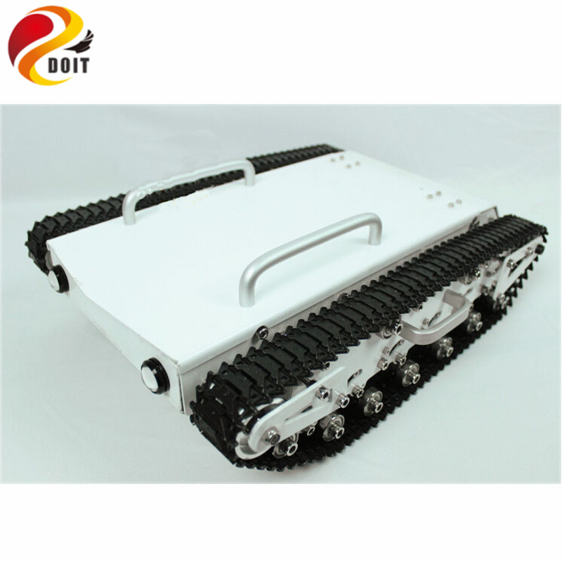 Official DOIT Big Bearing Weight Tank Chassis RC Tracked Car Remote Control Mobile Robot Explore Communication Education official doit wall e tank smart car chassis tracked cars high torque motors and steel structure remote control smart car parts