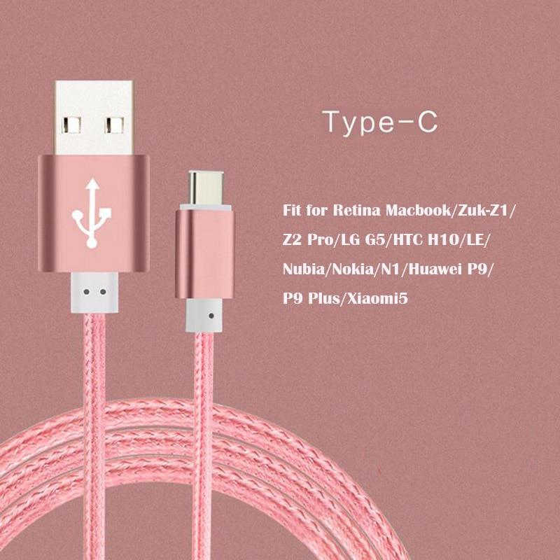 1m 1.5m Aluminum Nylon USB 3.1 Type C Charger Cable USB-C s