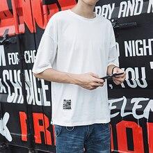 Men Half Length Hip Hop Side-zipper Short Sleeve T Shirt SF
