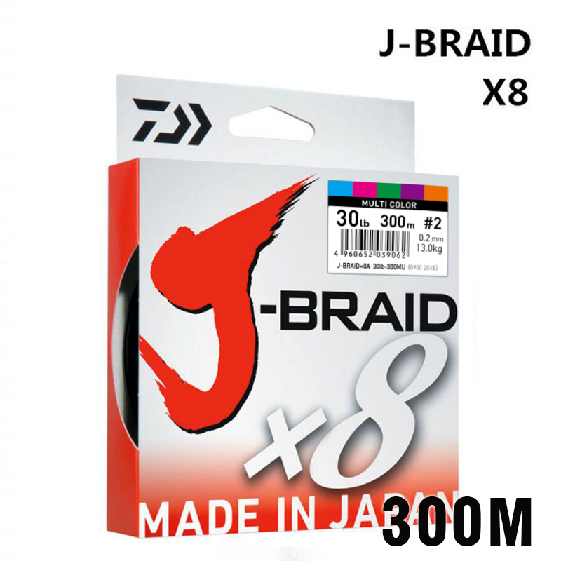 DAIWA 8 Braided Fishing Line – Length:300m/330yds, Diameter:0.2mm-0.42mm,size:30-100lb Japan PE braided line J-Braid Line