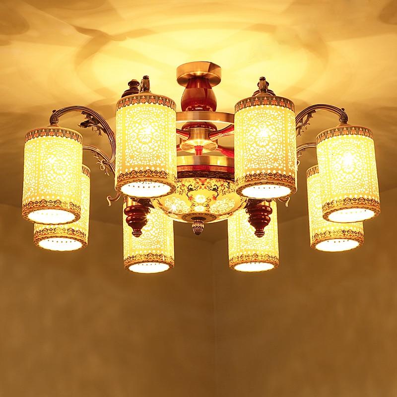 Chinesischen Stil Keramik Halle Lampe Vintage Antike Lampen Deckenleuchte Runde