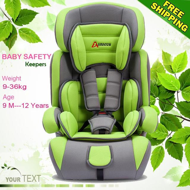 Top quality! Child baby car safety seat belt seat chair 7 colors kid protection Free shipping for 9 month - 12years child