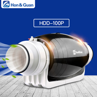 Hon&Guan HDD 150P Exhaust Fan Ultra Silent Mixed flow Inline Duct for Residential Commercial Bathroom Ventilation; 6'' 110V/220V