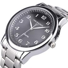 Quartz Watch Men Steel Waterproof Counterclockwise Reverse Scale Oil Embossing Dial Bracelet Watch Fashion Men Watch Male Clock