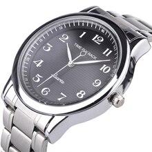 Quartz Horloge Mannen Stalen Waterdichte Linksom Reverse Schaal Olie Embossing Wijzerplaat Armband Horloge Mode Mannen Horloge Mannelijke Klok
