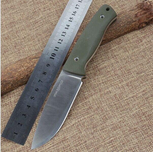 FOX Satin D2 Hunting Straight font b Knife b font Very Sharp font b Tactical b