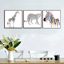 Deer Cebra Animals Wall Art Decor, Picture Canvas Prints Poster Oil Paintings for Living Room No Frame