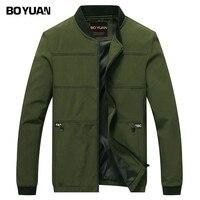 BOYUAN Brand Designer 2017 Sping Autumn Jacket Men Bomber Jacket Male Coat Solid Spliced Casual Fashion