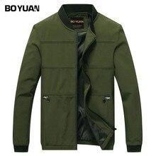 BOYUAN Brand Designer 2017 Sping Autumn Jacket Men Bomber Jacket Male Coat Solid Spliced Casual Fashion Outerwear Coats Men 8707