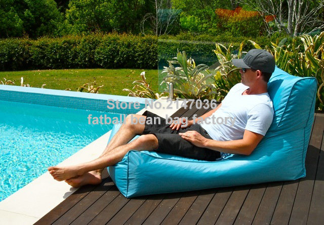цены Aqua blue outdoor bean bag chair, External beanbag sofa seat furniture, patio hammock beds,garden seat