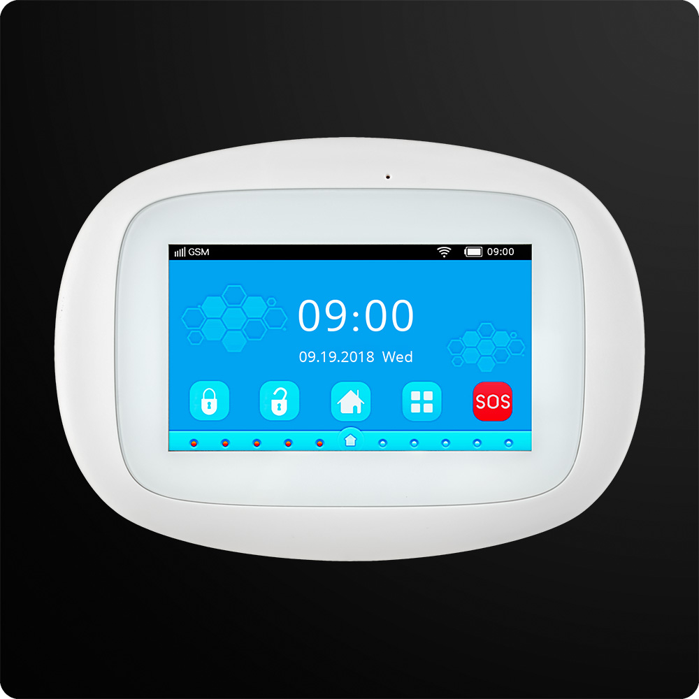 KERUI K52 large Touch TFT Color Screen Wireless Security Alarm WIFI GSM Alarm System APP Control  Wifi Camera RFID Keyboard 1