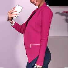 Comfotable Women Fashion OL Work Long Sleeve Jackets Coat V Neck Cardigan Outwear Suits