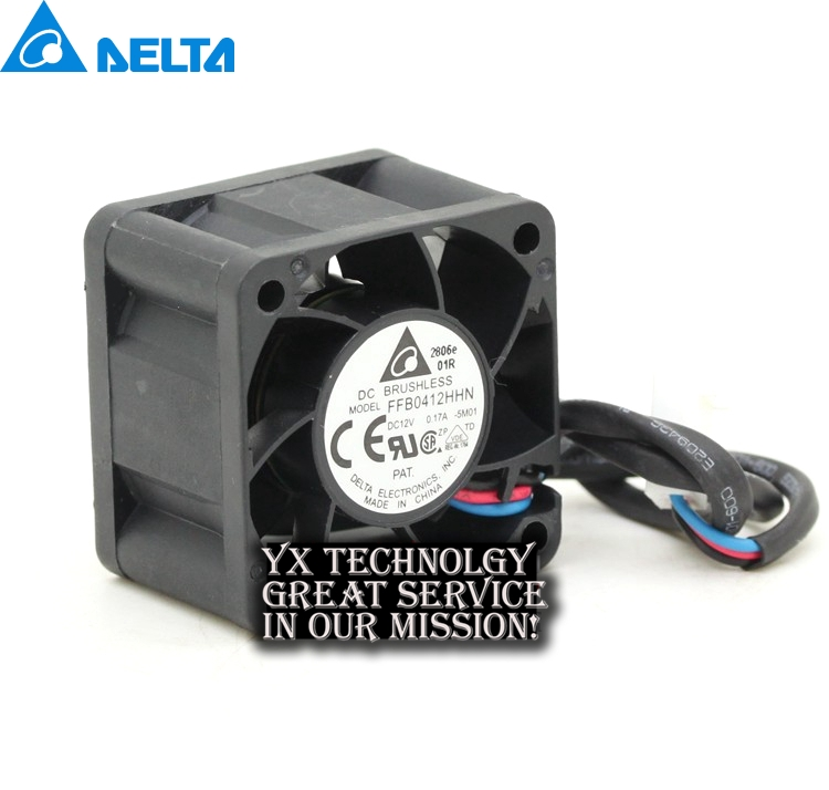 Delta Original FFB0412HHN 4028 4cm 12V 0.17A 3 server cooling fan for Delta 40 * 40 * 28mm