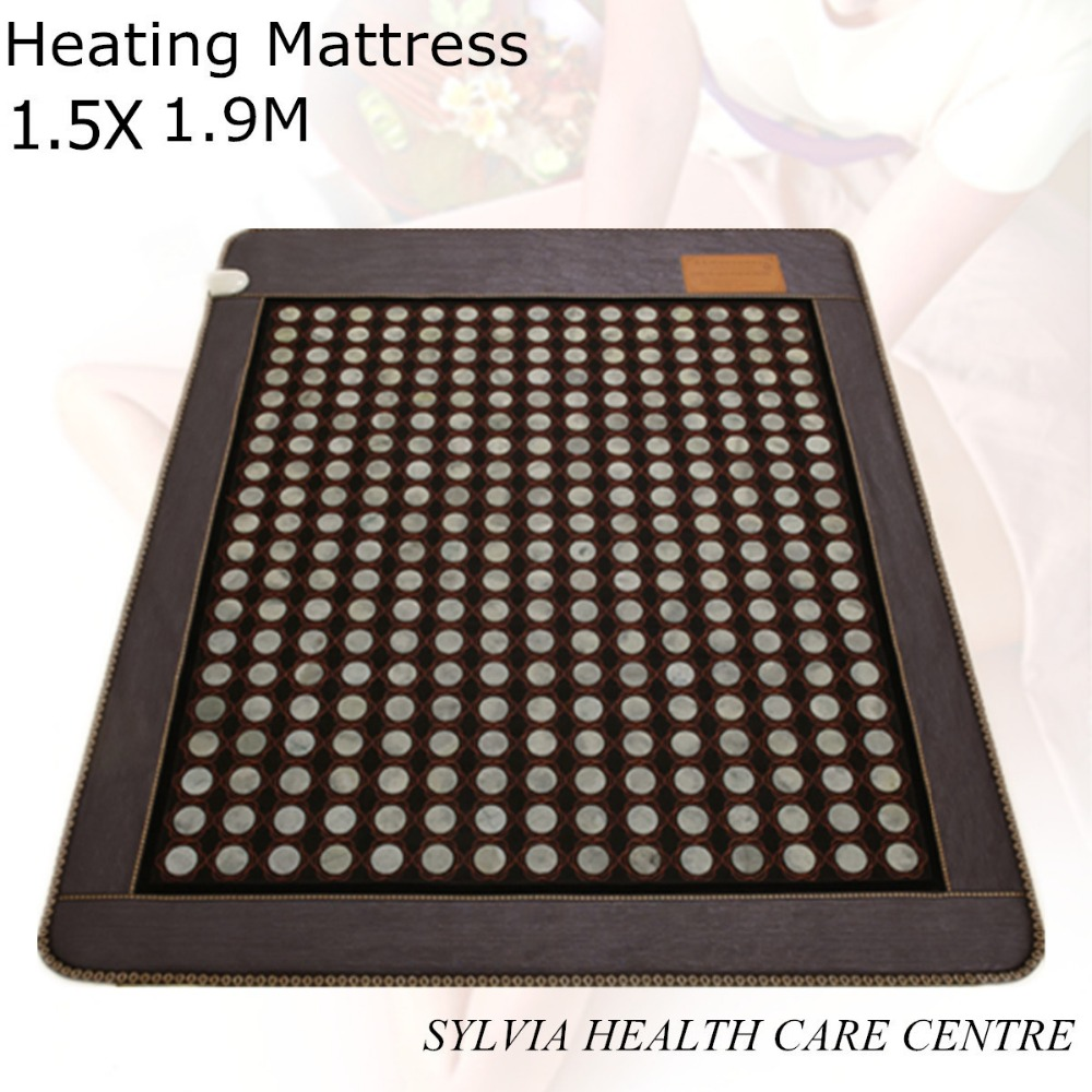 jade health care cushion tourmaline electronic heat jade heating bed mattress heating Physical therapy mat 1.5X1.9M/ 59''X74.8'' best selling korea natural jade heated cushion tourmaline health care germanium electric heating cushion physical therapy mat
