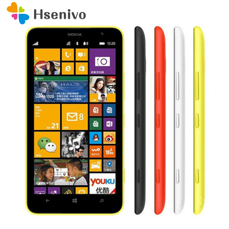 <font><b>Nokia</b></font> Lumia 1320 Original Unlocked cell <font><b>phones</b></font> Dual Core 6.0 inch Touch Screen <font><b>5MP</b></font> <font><b>Camera</b></font> 3400mAh 8GB ROM 1GB RAM Free shipping image