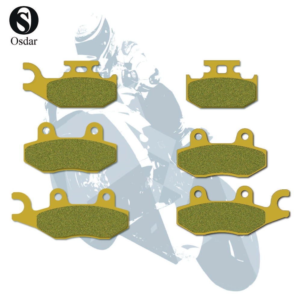 Motorcycle Disc Brake Pads Front Rear For YAMAHA ATV Rhino 450 (4x4) YXR / FAH 06-08 Raptor 700 - YFM 700 RV / RW / RX 06-09