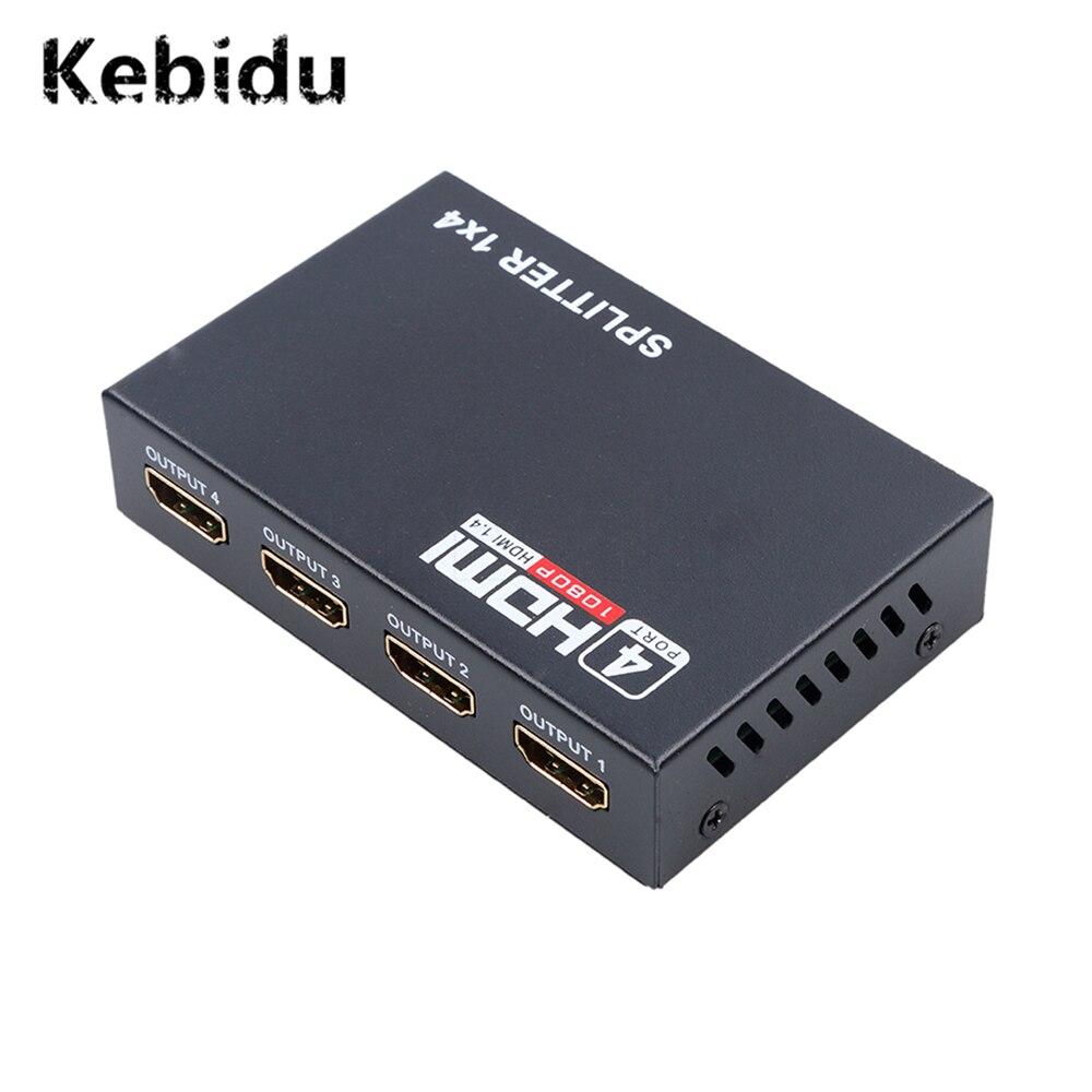 US Plug 110-240v HDMI Switch 1.4 Splitter,HDMI Splitter Audio Video 1x4 HDMI Repeater Switch Box Hub 2160P//30HZ 110-240v