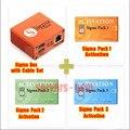 Más nuevo 100% original sigma caja + pack $ number + pack2 + pack3 nueva actualización para el huawei envío libre