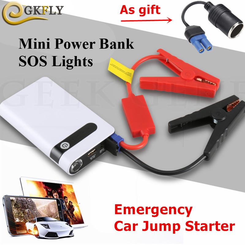 GKFLY Emergency 12000mAh Car Jump Starter Power Bank 12V 400A Starting Device Petrol Diesel Car Charger For Car Battery Booster