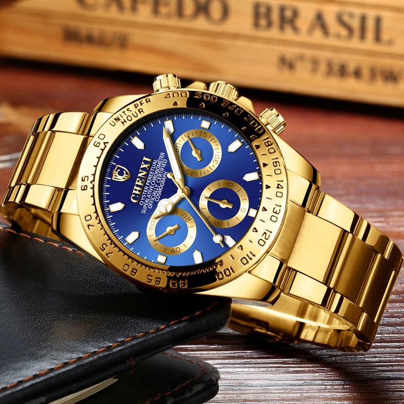 Mode Hommes de Montre D'affaires Lumineux Montre-Bracelet Hommes Montre À Quartz Top Marque Sport Montres Homme Horloge D'or Relojes Para hombre