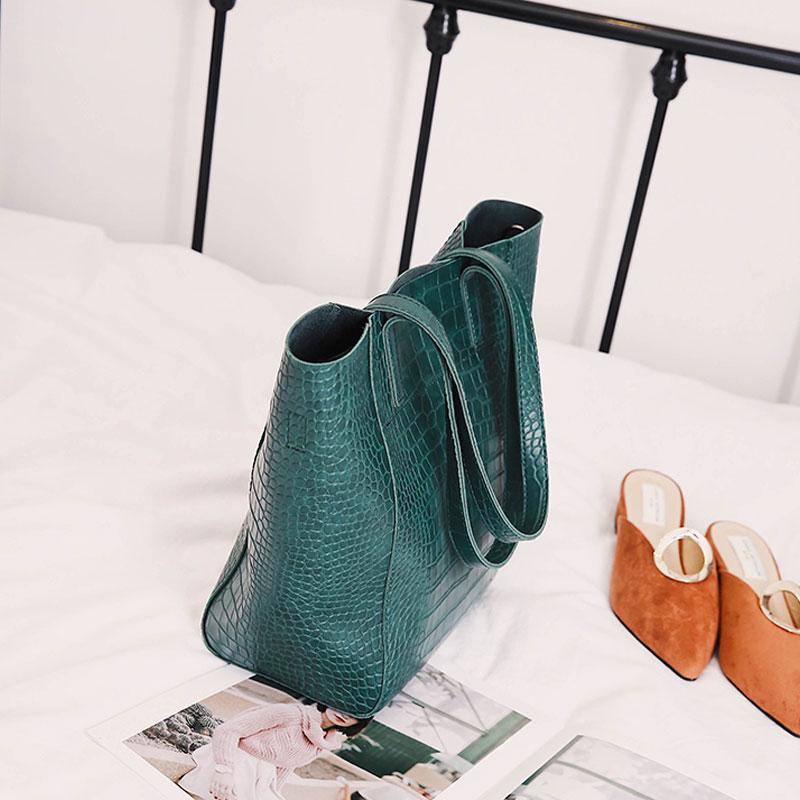Retrò Il Daunavia borgogna A Bag Femminile Borse Spalla Sacchetto Lusso Tote verde Designer Cuoio Dell'esercito Del Progettista Donne Nero Casual Di Grande Capacità Delle 8qwgO8rH