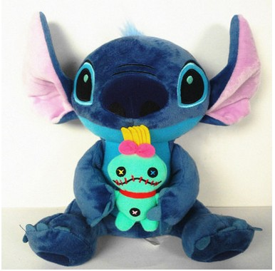 New Kawaii Stitch Plush Toys Big Lilo and Stitch Stich Plush Toy Scrump Soft Stuffed Animal Doll Kids Toys Christmas Gift free shipping pokemon plush toys 12 inch big sitting vaporeon soft stuffed animals toy collectible christmas gift