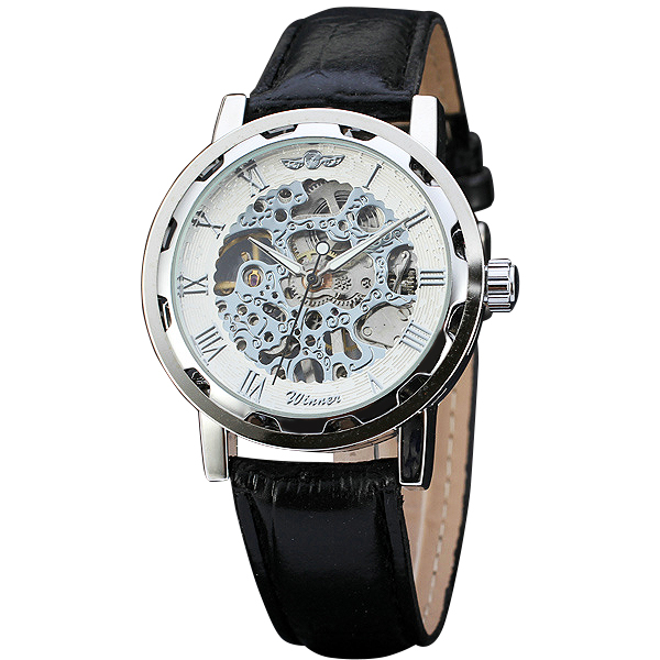 Fashion Ladies Watches Top Brand Luxury font b WINNER b font Mechanical Wrist Watches Hand wind