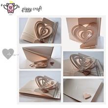 Piggy Craft metal cutting dies cut die mold 3D Love Heart decoration Scrapbook paper craft knife mould blade punch stencils dies