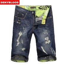 Mens Shorts Cotton Jeans Denim Shorts Men Distressed Jeans Ripped Men Short Jeans Men's Capris 2015 Brand Fashion Size28~36 1141