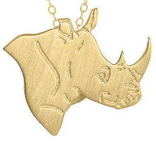 Fashion Jewelry Gold Silver Color Animal Avengers Necklace Choker Rhino Charm Long Necklaces Pendants Dog Pet Memorial Gift