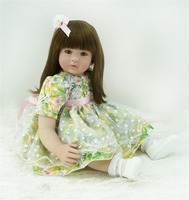 24/60 cm Silicone Reborn Baby Toddler Princess Girl Dolls Toys for Children Girls bebes reborn alive dolls Birthday Gift