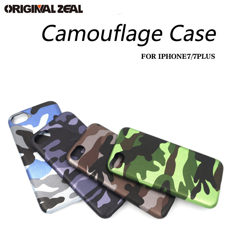 INIZEAL Ultra thin Camouflage Minimalism Soft PU TPU Phone Back Case for iPhone X 8 7 8plus 7plus 6s 6plus Simple 4 Colors cover