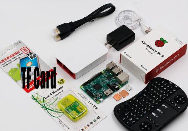 Новый raspberry pi комплект Оригинал raspberry pi 3 модель B совет по развитию с raspberry pi вентилятор raspberry pi 3 случае клавиатура