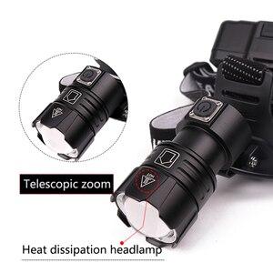 Image 4 - Siêu Sáng XHP70.2 USB Sạc Đèn LED XHP70 Nhất Mạnh MẽKhông Đèn Pha Câu Cá Cắm Trại Zoom Đèn Pin 3 * Pin 18650
