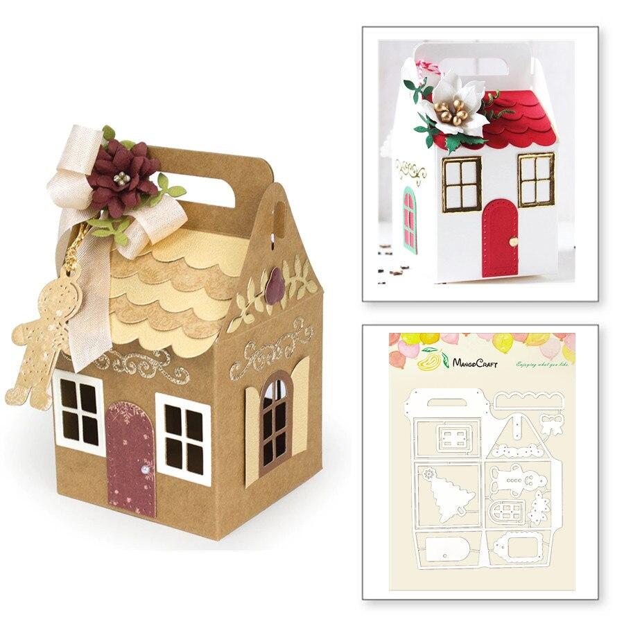 Caja de regalo de Navidad troquelado de Metal troquelado Plantilla de repujado para hacer álbumes de recortes de tarjetas de papel hechas a mano