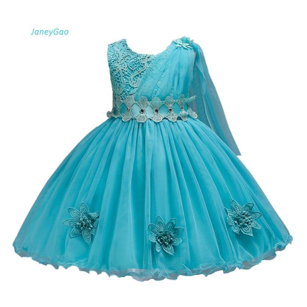 JaneyGao Flower Girl Dresses For Wedding Party Little Girl Formal Dress Bow Gown Birthday Prom Dresses