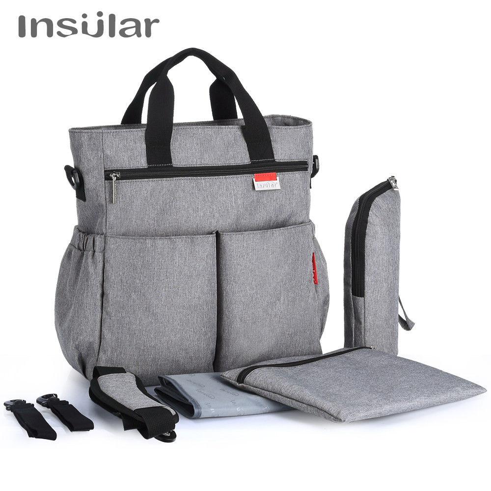 HTB1hLToX56guuRkSnb4q6zu4XXak Insular Mummy Diaper Bag Large Nursing Bag Travel Backpack Designer Stroller Baby Bag Baby Care Nappy Backpack bolsa maternidade