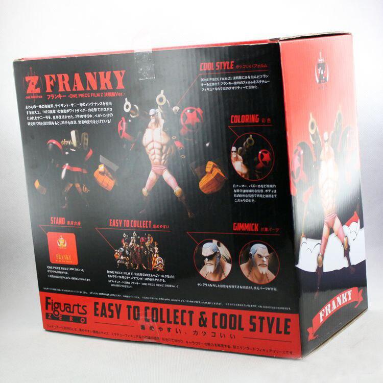 ФОТО Free shipping Classic Anime/Comic Eiichiro Oda One Piece Straw Hat Pirates Franky/Cutty Flam Cola Man PVC Figure Toys New In Box