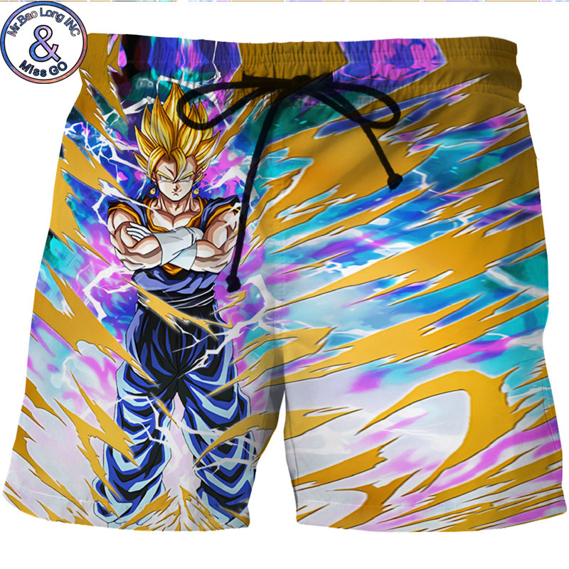 3D Dragon Ball Z Printed Beach Board Shorts Men 2018 Summer Quick Dry Brand Boardshorts Men Hipster Hip Hop Shorts Beachwear 6XL ...
