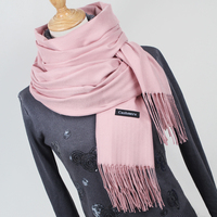 Women Solid Color Cashmere Scarves With Tassel Lady Winter Thick Warm Scarf High Quality Female Shawl